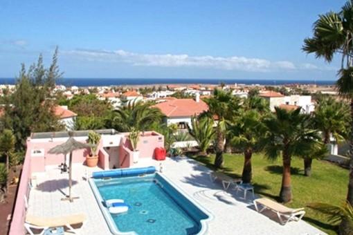 Paradiesische Villa mit privatem Pool und Meerblick in Parque Holandes, Fuerteventura