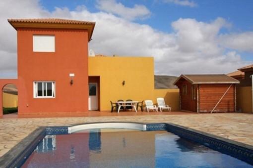 Villa mit Privatpool und Meerblick in Triquivijate, Fuerteventura