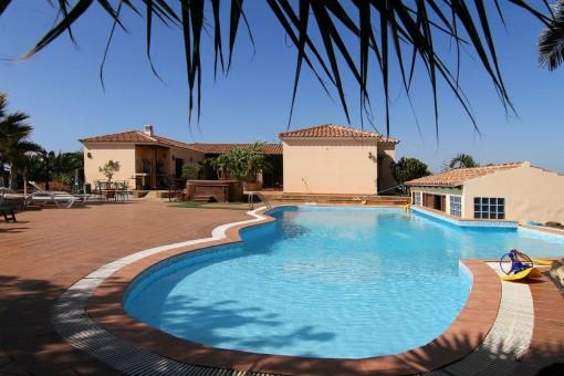 Charmante Villa mit Pool und privatem Golfplatz in La Oliva, Fuerteventura