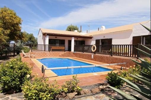 Exklusiver Bungalow mit Pool in La Oliva, Fuerteventura