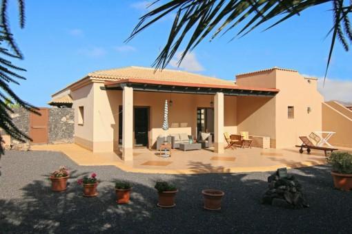 Familienfreundliches Haus mit Dachterrasse in Villaverde, Fuerteventura