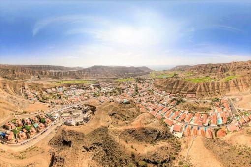 Blick auf die Urbanisation