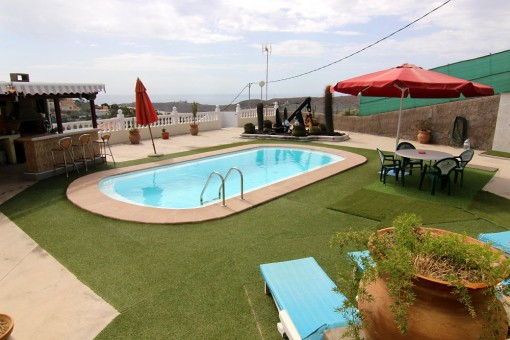 Meerblick vom Poolbereich aus