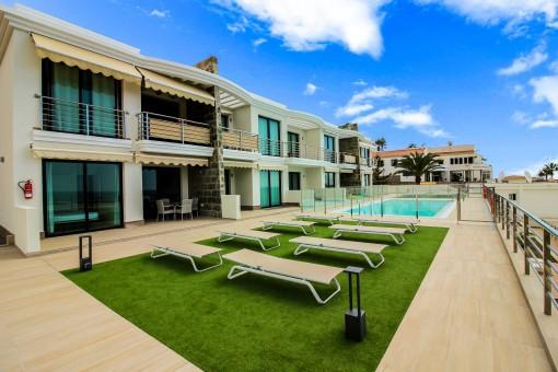 Modernes Apartment mit schönem Panoramablick auf das Meer in Arguineguín, Gran Canaria Süd